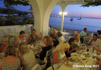 Mosaic workshop in Greece with Sonia King