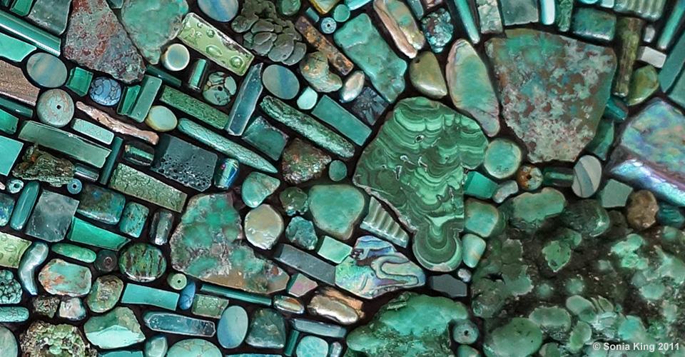 Depthfinder mosaic by Sonia King Mosaic Artist