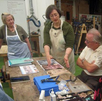 Sonia King teaching at West Dean