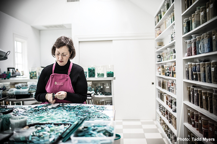 American Craft profile of Sonia King Mosaic Artist