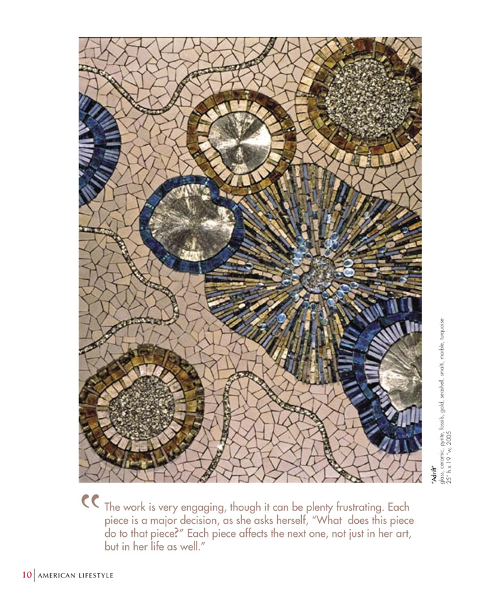 Sonia King Mosaic Artist in American Lifestyle Magazine