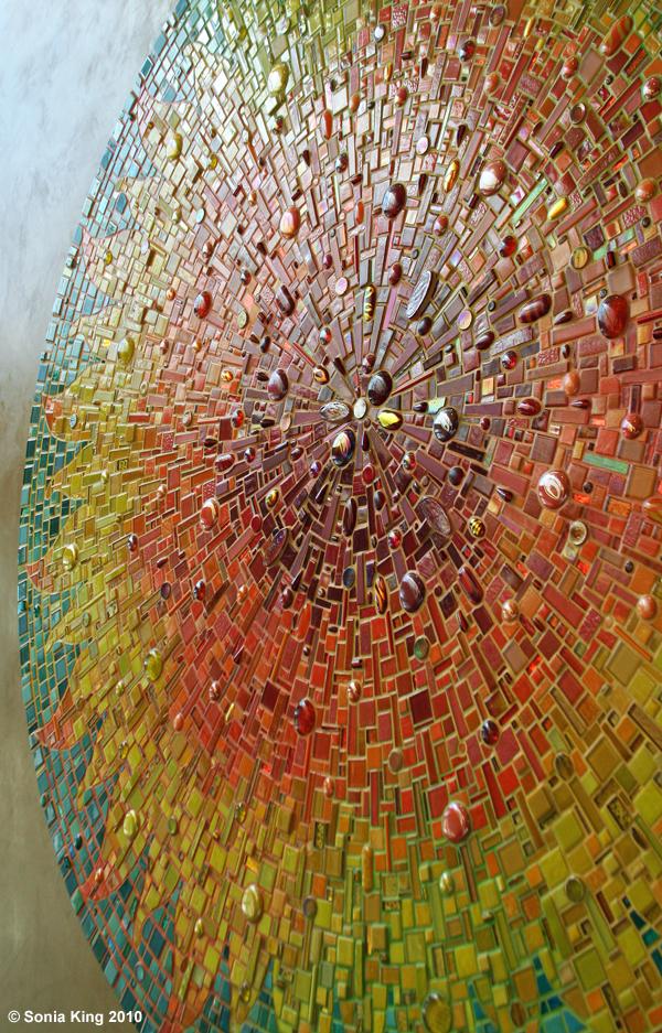 Aurora mosaic by Sonia King Mosaic Artist