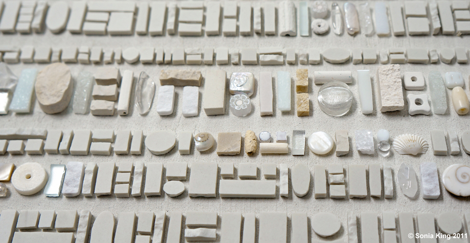 Coded Message: Invisible Ink by Sonia King Mosaic Artist