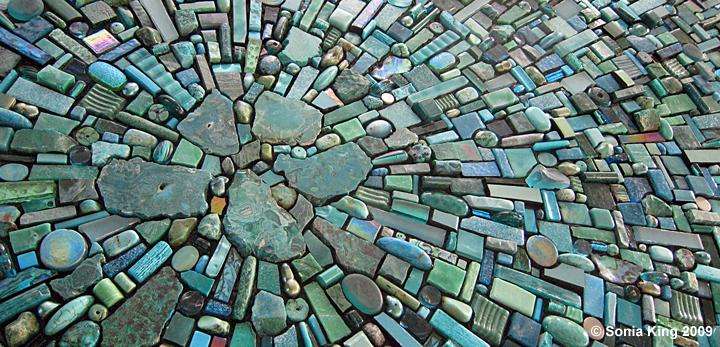 Nebula Aqua by Sonia King Mosaic Artist