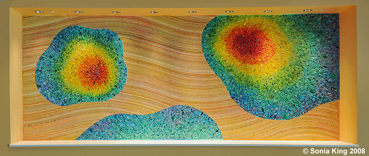 Nebula Chroma mosaic by Sonia King Mosaic Artist