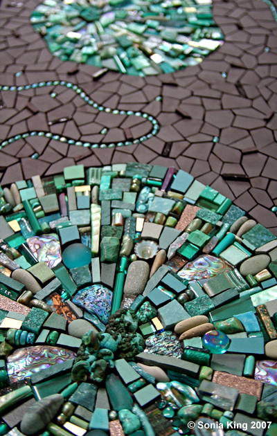 Spinoff by Sonia King Mosaic Artist