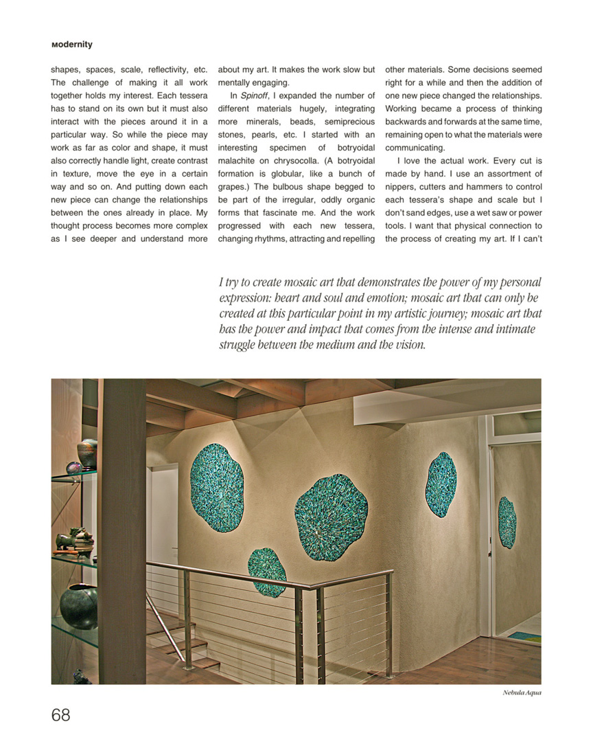 Solo Mosaico feature on Sonia King