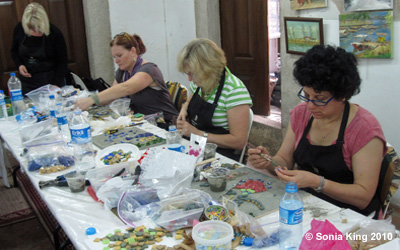 Mosaic Workshop in Istanbul with Sonia King Mosaic Artist