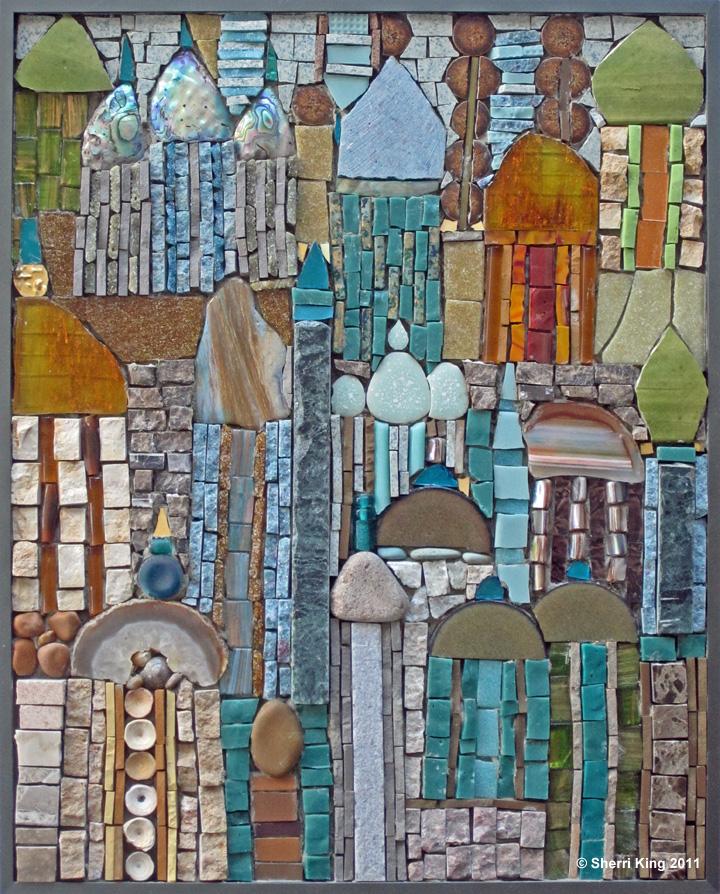 Xanadu mosaic by Sherri King Mosaic Artist